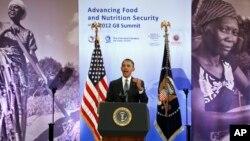지난 18일 미국 워싱턴에서 열린 아프리카 관련 심포지엄에서 연설하는 바락 오바마 미국 대통령.