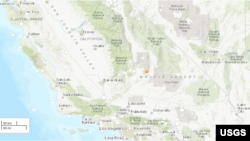 Earthquake in California 6.4 / July 4, 2019 Map
