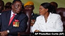 Mutungamiri wenyika VaEmmerson Mnangagwa nemudzimai wavo, Amai Auxilia Mnangagwa