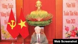 Ông Nguyễn Phú Trọng, hình chụp tháng Hai, 2021. Photo Dang Cong San