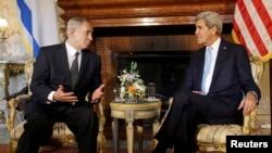 Državni sekretar Džon Keri i izraelski premijer Benjamin Netanjahu na sastanku u Rimu, 23, oktobar, 2013.