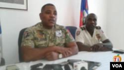 Kòmandan Michel-Ange Gédéon, agoch, chèf Polis Nasyonal d Ayiti (PNH)..