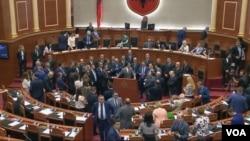 Albania parliament tensions