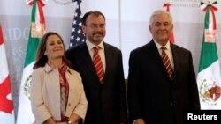 دیدار وزرای خارجه آمریکا، مکزیک و کانادا در چارچوب گفت و گوهای اقتصادی نفتا
