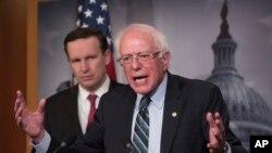 برنی سندرز، از حامیان اصلی این قطعنامه است