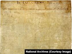 بیانیه استقلال آمریکا برابری، آزادی، حق حیات و جستجوی خوشبختی را حقوقی طبیعی میداند