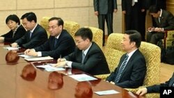 북-중 전략대화에 참석한 중국측 관계자들(자료사진)