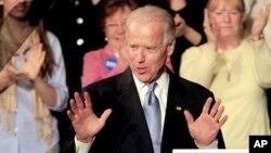El vicepresidente de Estados Unidos, Joe Biden, en Exeter, Nueva Hampshire.