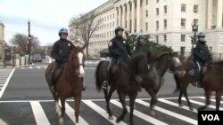 Pasukan berkuda adalah bagian dari tim pengamanan inagurasi Presiden hari Senin nanti (foto: dok).