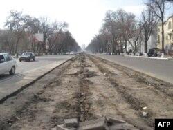 Novoiy markaziy ko'chasidan tramvay liniyasi olib tashlanayapti