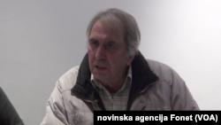 Novinar portala Žig-Info Milan Jovanović na konferenciji za novinare, Foto: video grab