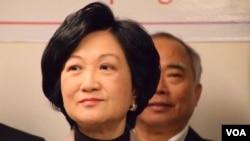 新民党主席兼行政会议成员叶刘淑仪不赞成港府暂缓修订《逃犯条例》。 (美国之音汤惠云拍摄)