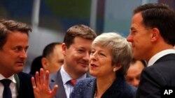 La Première ministre britannique Theresa May, au sommet de l'UE à Bruxelles, le 21 mars 2019.