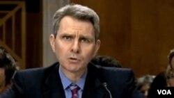 Надзвичайний посол Джеффрі Пайятт на слуханнях у Сенаті США.