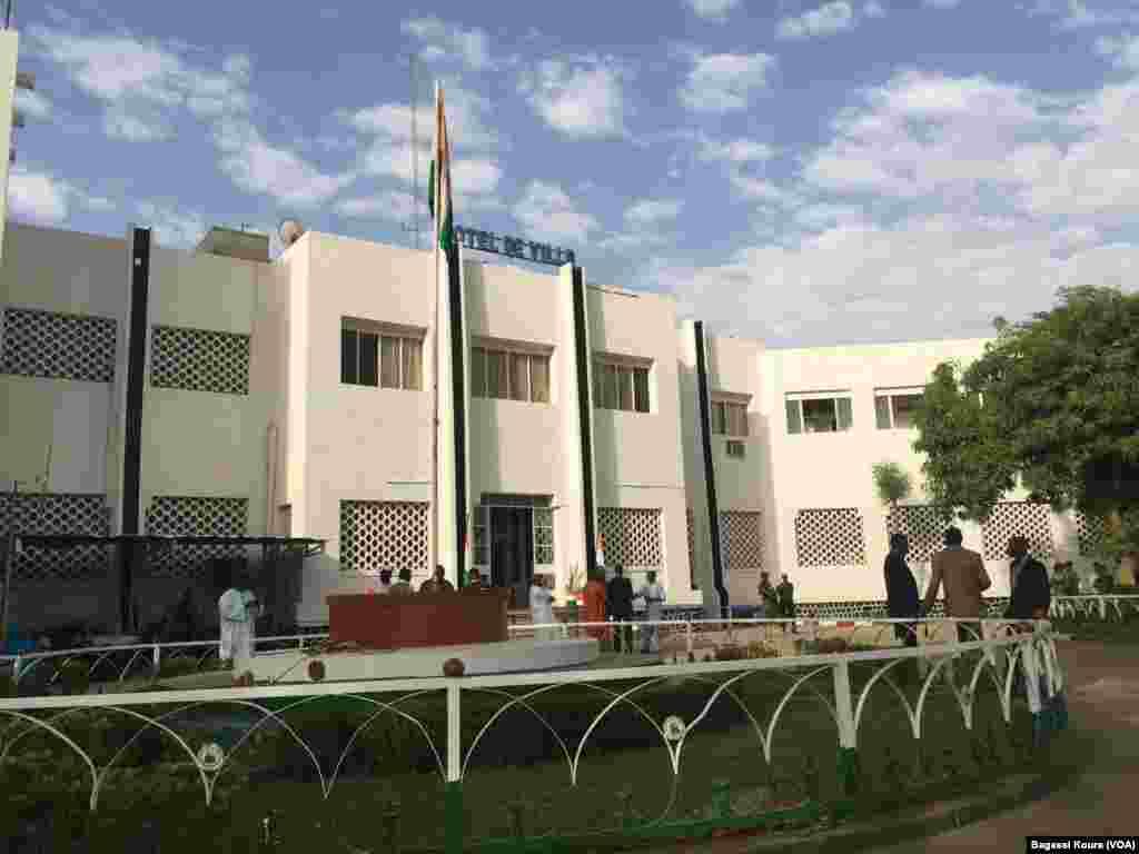 L'hôtel de ville de Niamey, bureau de vote n°1 de la capitale, le 20 mars 2016.