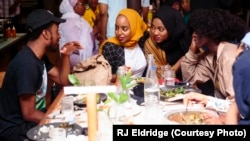 Attendees at the first Black Iftar event, held in Chicago and hosted by Samira Abderahman. (Photo courtesy of Samira Abderahman)