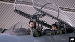 参加沙特领导的联军行动的沙特飞行员。