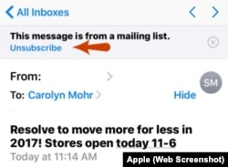 Unsubscribe iPhone