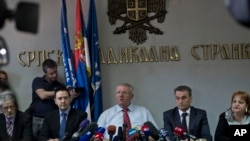 Vojislav Šešelj na konferenciji za novinare u Beogradu