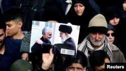 Biểu tình ở Tehran lên án vụ sát hại Tướng Soleimani