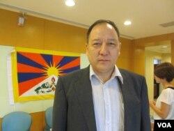 藏人行政中央駐台代表達瓦才仁(美國之音張永泰拍攝)
