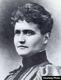 世纪末推动华盛顿种植樱花树的美国妇女伊莱莎.斯基德默( Washingtoniana Division, D.C. Public Library)