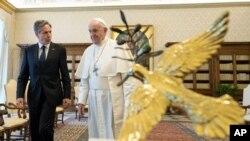 Papa Francîs û Wezîrê Karên Derve yê Amerîka Anthony Blinken