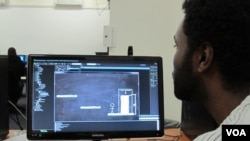 Students studying Game Design at Wits University, Johannesburg, May 27, 2014. (Gillian Parker/VOA)