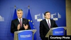 Hashim Thaci dhe Jose Manuel Barroso