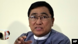 Myanmar's Minister for Social Welfare, Relief and Resettlement Win Myat Aye says, April 5, 2018, he hopes to talk to Rohingya refugees when he visits the refugee camps this month.