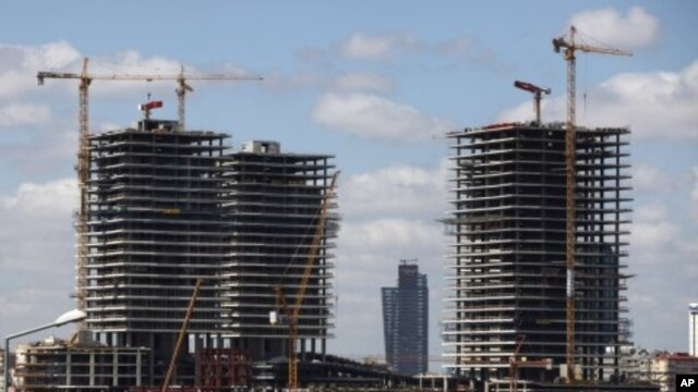 Zorlu Center, under construction - a mixed use project which will include five different functions for the first time in Turkey with the culture and art center, hotel, business center, shopping center and residences - is seen in the district of Zincirliku