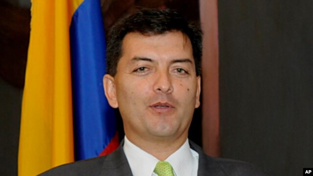 Colombia's Ambassador to the Permanent Council of the Organization of American States, Luis Alfonso Hoyos.