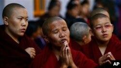 流亡藏僧新年祈福 (資料圖片)