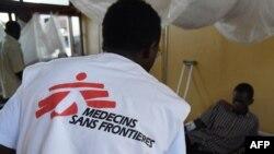 Un employé de MSF à Bangui, le 28 avril 2014.