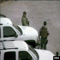 Para karyawan keamanan swasta yang bekerja di Afghanistan.