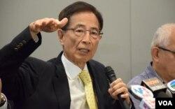 香港民主黨創黨主席李柱銘表示,香港未有真普選,港人不能當家作主等於未落實兩制。(美國之音湯惠芸)