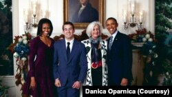 Danica Oparnica (na fotografiji sa sinom Aleksom) učestvovala je u obe predizborne kampanje predsednika Baraka Obame (Foto: Danica Oparnica)