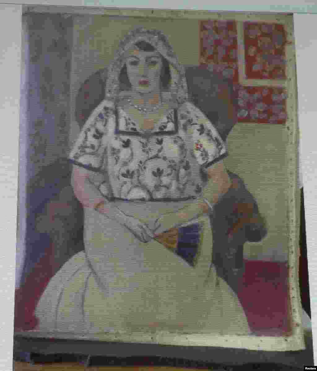 'Sitting Woman' by French artist Henri Matisse was one of the works found in a Munich apartment in 2011.
