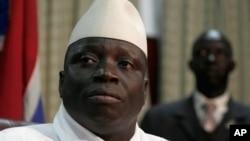 FILE - Gambian President Yahya Jammeh.