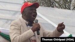 Le leader de l'opposition du Zimbabwe, Morgan Tsvangirai, lors d'un meeting à Harare, Zimbabwe, 7 août 2017.