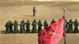 Recruits of Kachin Independence Army undergo training in northern Burma (file photo).