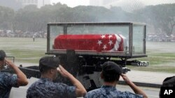 ພາບ ພິທີ ຊາປະນາກິດສົບ ທ່ານ Lee Kuan Yew