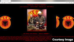 One of images uploaded by hackers to web site of Bosnian ministry of finance