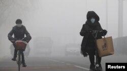 2017年2月14日北京霧霾情形。
