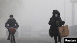 中國北京的霧霾天氣(2017年2月14日)
