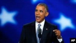 Barack Obama discursa na convenção democrata