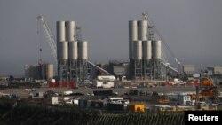Stasiun pembangkit listrik tenaga nuklir Hinkley Point C dekat Bridgwater di Inggris (14/9). (Reuters/Stefan Wermuth)