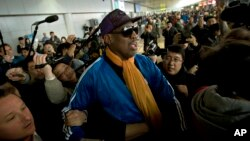 Деннис Родман. Пекин. 13 января 2014 г.