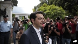Alexis Tsipras, head of the Greek Radical Left Coalition (SYRIZA)