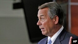 House Speaker John Boehner on Capitol Hill in Washington , May 16, 2013.
